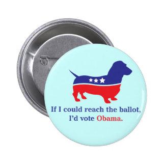 Dachshund 4 Obama 6 Cm Round Badge