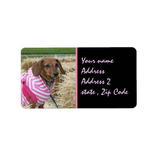 Dachshund Address Label