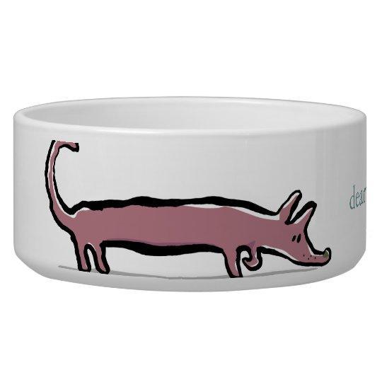 dachshund and bone - customisable