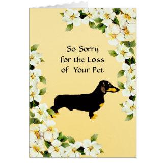 Dachshund and Dogwood - Sympathy Card