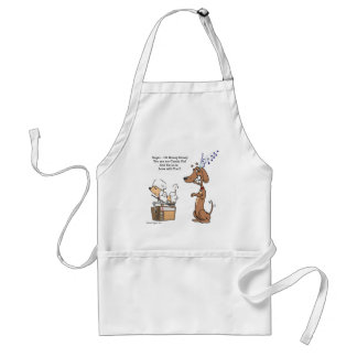 Dachshund and Poodle Candy Girl Aprons