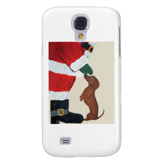 Dachshund And Santa Galaxy S4 Case