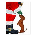 Dachshund And Santa Postcards