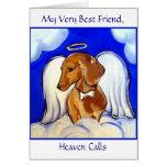 Dachshund  Angel Card