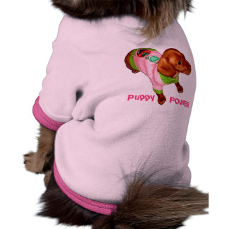 Dachshund Apparel for Dogs Cute Puppy Power Shirt Ringer Dog Shirt