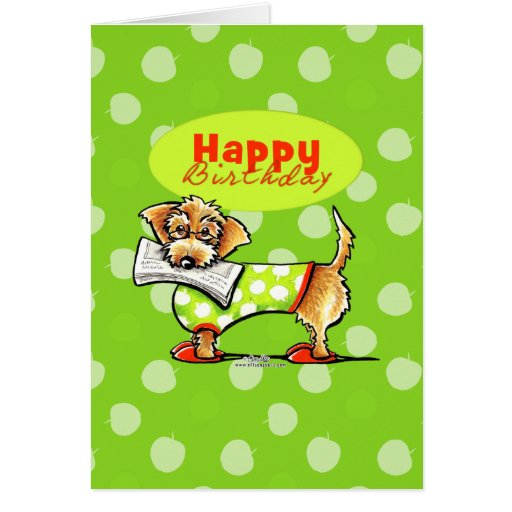 Dachshund Apples Happy Birthday Cards