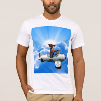 """Dachshund Aviator"" Designed by Zermeno T-Shirt"