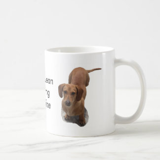 Dachshund Barking Machine Basic White Mug