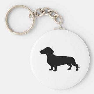 Dachshund Basic Round Button Key Ring
