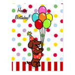 Dachshund Birthday Cartoon Balloons