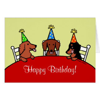 Dachshund Birthday Cartoon Card