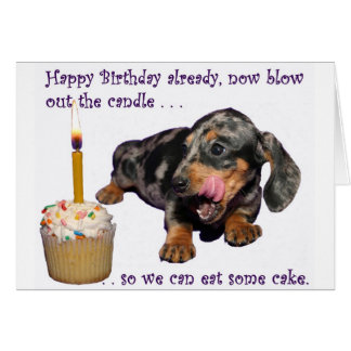 Dachshund Birthday  Greeting Card