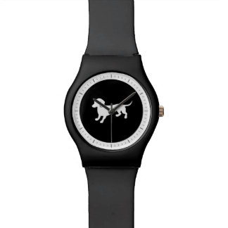 Dachshund Black and White Design Watch