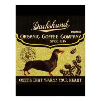 Dachshund Brand – Organic Coffee Company Postcard