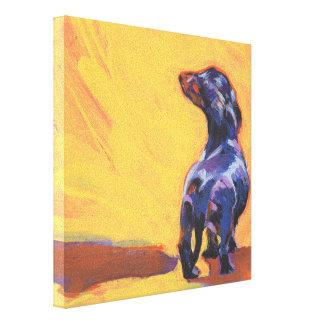 dachshund Bright Colorful Pop Dog Art Gallery Wrap Canvas