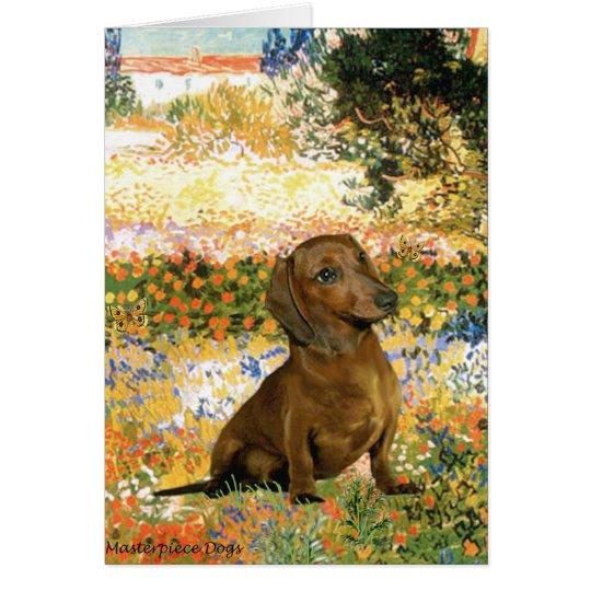 Dachshund (brown1) - Garden Fiorito Card