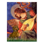 Dachshund (brown1) - Mandolin Angel Postcard