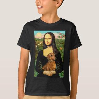 Dachshund (brown1) - Mona Lisa T-Shirt