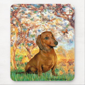 Dachshund brown1 - Spring Mouse Mat