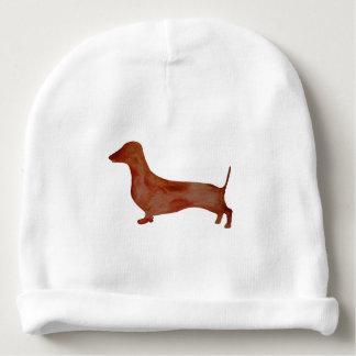 Dachshund Brown Dog Custom Baby Cotton Beanie Baby Beanie