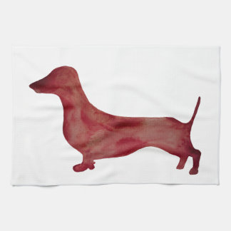 Dachshund Brown Dog  Ring Tea Towel 40.6 cm x 61