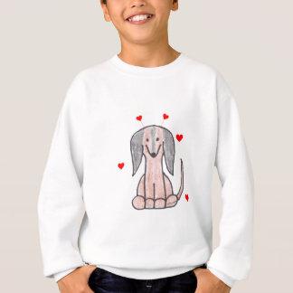 Dachshund Brown Valentine Ears Sweatshirt