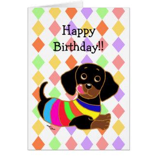 Dachshund Cartoon 2 Birthday Card