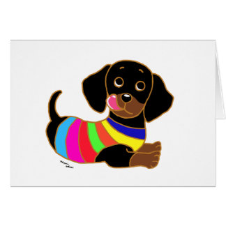 Dachshund Cartoon 2 Card