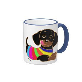 Dachshund Cartoon 2 Coffee Mugs