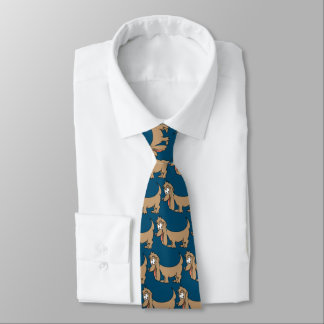 Dachshund Cartoon Dog Tie