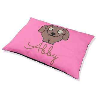 Dachshund checkered dog pet pillow bed