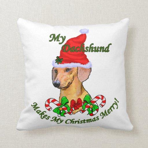 Dachshund Christmas Merry Pillows
