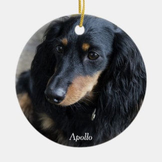 Dachshund Christmas Ornament Custom Photo