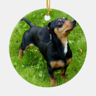 Dachshund Christmas Ornament With Your Photo