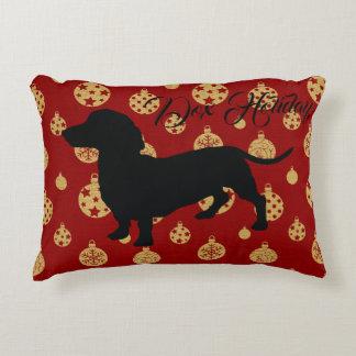 Dachshund Christmas Pillow