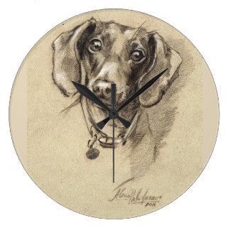 Dachshund clock Dog lover gift.