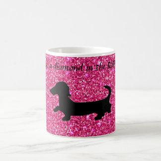 Dachshund Coffee Mug Glitter Wiener Dog Gift Mug
