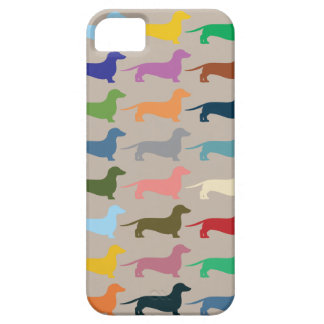 Dachshund colourful Iphone case
