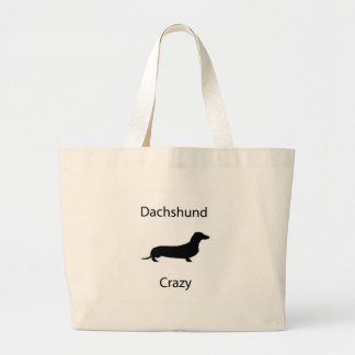 Dachshund Crazy Large Tote Bag
