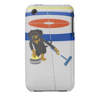 Dachshund Curling iPhone 3 Case-Mate Case