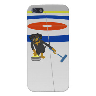 Dachshund Curling iPhone 5 Cases