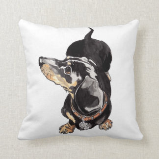 dachshund cushion by Annabel Tarrant