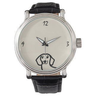 Dachshund Cute Dog Funny Sketch Wiener Stylish Watch