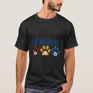DACHSHUND Dad Paw Print 1 T-Shirt