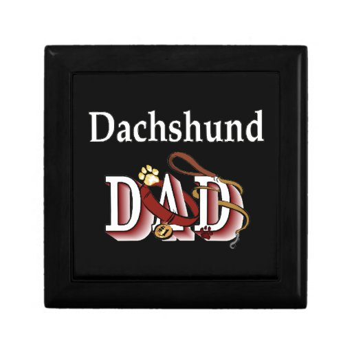 Dachshund Dad Small Square Gift Box