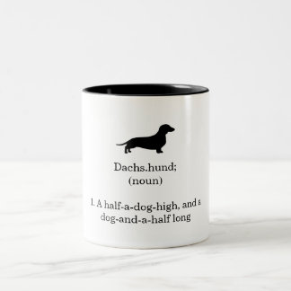 Dachshund Defintion Two-Tone Mug