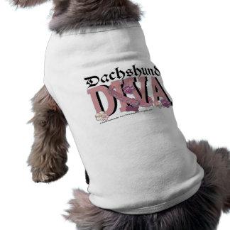 Dachshund DIVA Sleeveless Dog Shirt