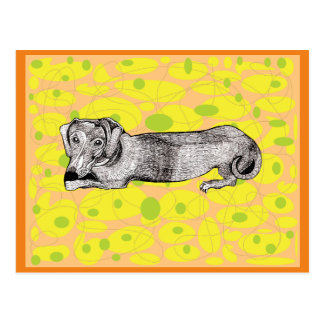 Dachshund Dog Assorted Items Postcard