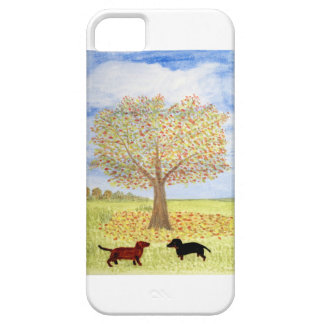 Dachshund Dog Autumn Walk iPhone 5 Cover