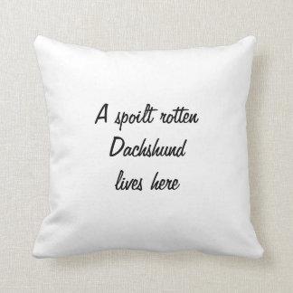 Dachshund dog black silhouette cushion pillow
